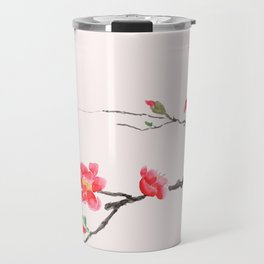 red Japan begonia Travel Mug