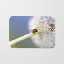 Dandelion Ladybugs Bath Mat