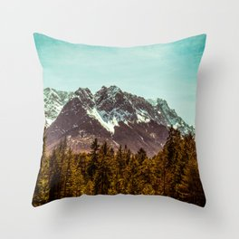 Alpspitze till Zugspitze Throw Pillow
