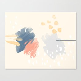 Peach and Blue Canvas Print
