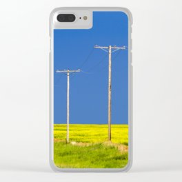 Wood Telephone Poles Canadian Prairies Clear iPhone Case