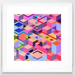 Isometric Chaos Framed Art Print