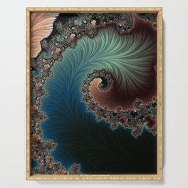Velvet Crush - Fractal Art Serving Tray