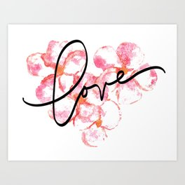 "Plumeria Love - A Romantic way to say, ""I Love You"" Art Print"