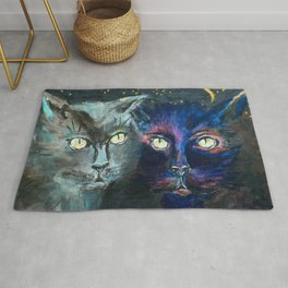 They Meet in the Night (Cats) Rug