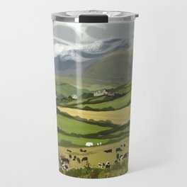 Cows in Dingle, Ireland Travel Mug