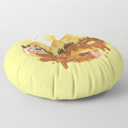 Breakfastscape Floor Pillow