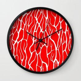 White crinkles Wall Clock