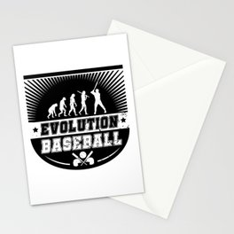 Evolution Baseball Stationery Cards