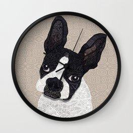Boston Terrier 2015 Wall Clock