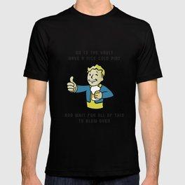 Fallout Vault boy advice T-shirt