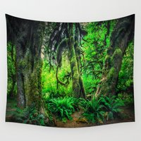giants Wall Tapestries featuring Mossy Giants by JMcCool