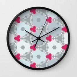 Kaleidoscope Flowers Winterday Wall Clock