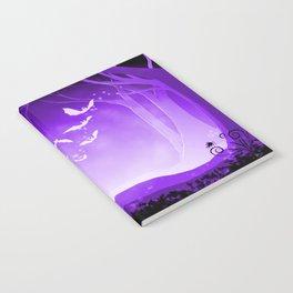 Dark Forest at Dawn in Amethyst Notebook