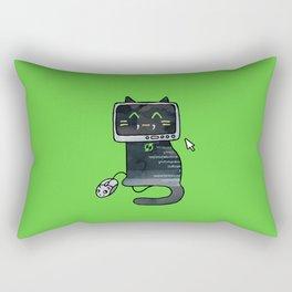 Programmer cat  makes a website Rectangular Pillow