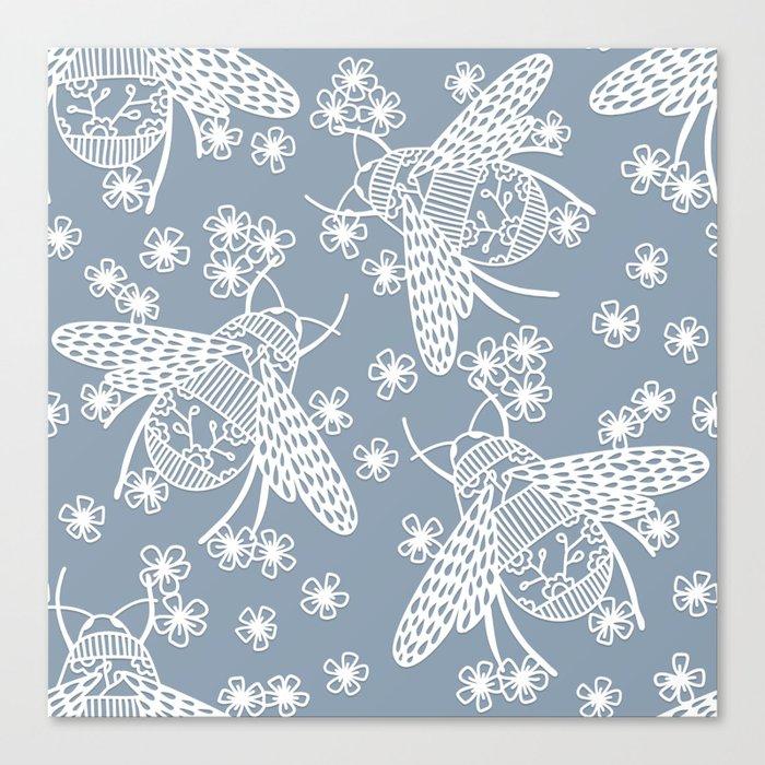 Papercut Bees Canvas Print
