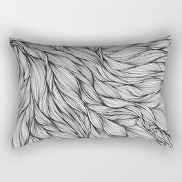 Pin in a Hairstack Rectangular Pillow