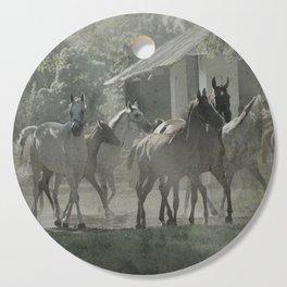 Arabian horses Cutting Board