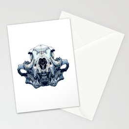 Wolf Skull Face - 02 Stationery Cards
