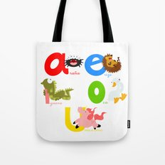 Vowels (spanish) Tote Bag