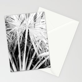 Palm Trees Tropical Vibes White Silhouette Stationery Cards