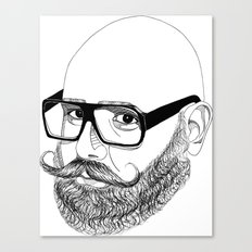 bear'n'roll Canvas Print