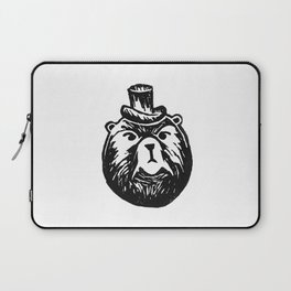 Grumpy Bear with a Top Hat Laptop Sleeve