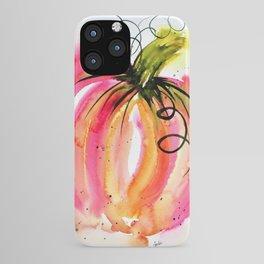 Pink Pumpkin iPhone Case