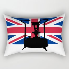 Union Jack and Paraffin pressure stove Rectangular Pillow