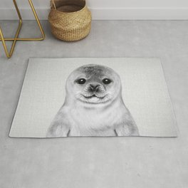 Baby Seal - Black & White Rug