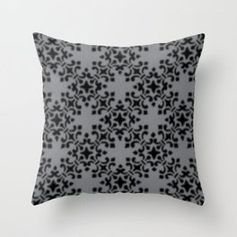 Vintage Brocade Damask Sharkskin Throw Pillow