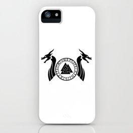 Norse Dragon - Valknut II iPhone Case