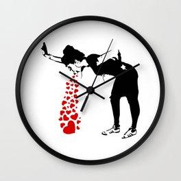 Lovesick - Banksy, Streetart Street Art, Grafitti, Artwork, Design For Men, Women, Kids Wall Clock