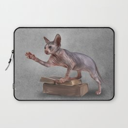 Drawing Sphynx kitten, hairless Laptop Sleeve