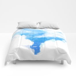 Summerscape - summer clouds and blue sky Comforters