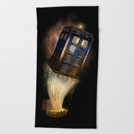 Fantastic Tardis Doctor Who Mashup with Fantastic Bag Beach Towel