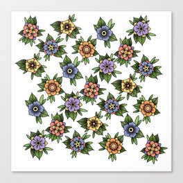 traditional flowers Canvas Print