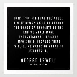 71    | George Orwell Quotes | 190529 | Black Art Print