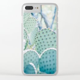 Paddle Cactus Clear iPhone Case