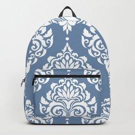 Sky Blue Damask Backpack