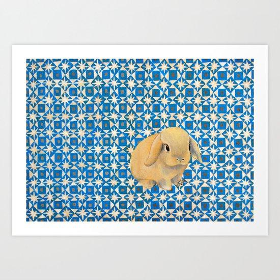 Charlie the Rabbit Art Print