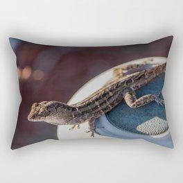 The Brown Anole Rectangular Pillow