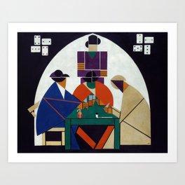 Theo van Doesburg - Card players Art Print
