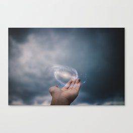 Universe on the Hand Canvas Print