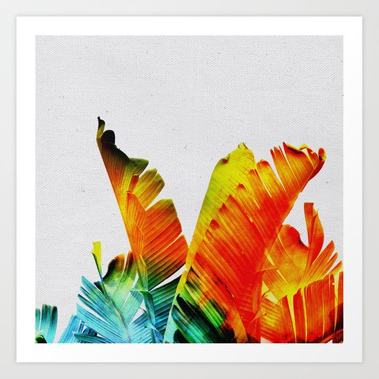 Enchanted Banana Leaves Art Print