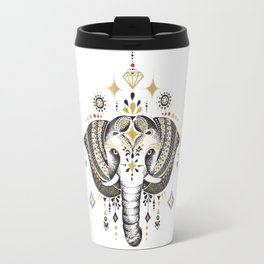 Bohemian Elephant Travel Mug