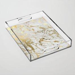 Gold marble Acrylic Tray