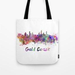 Gold Coast skyline in watercolor Tote Bag