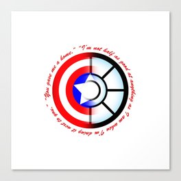 SteveTony - Encircling Quotes Canvas Print