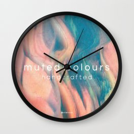 Muted Colours - Handcrafted Wall Clock